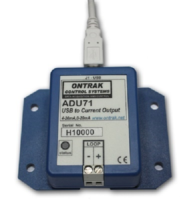 ADU71 USB to 0-20mA, 4-20mA Current Output Interface